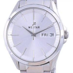 Westar Silver Dial Stainless Steel Quartz 50212 STN 107 Men's Watch