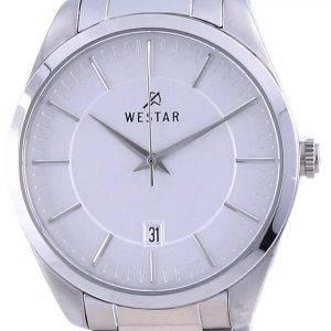 Westar Silver Dial Stainless Steel Quartz 50213 STN 107 Men's Watch