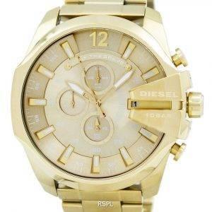 Diesel Quartz Mega Chief Chronograph Gold Tone DZ4360 Men's Watch