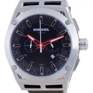 Diesel Timeframe Chronograph Leather Quartz DZ4543 100M Mens Watch