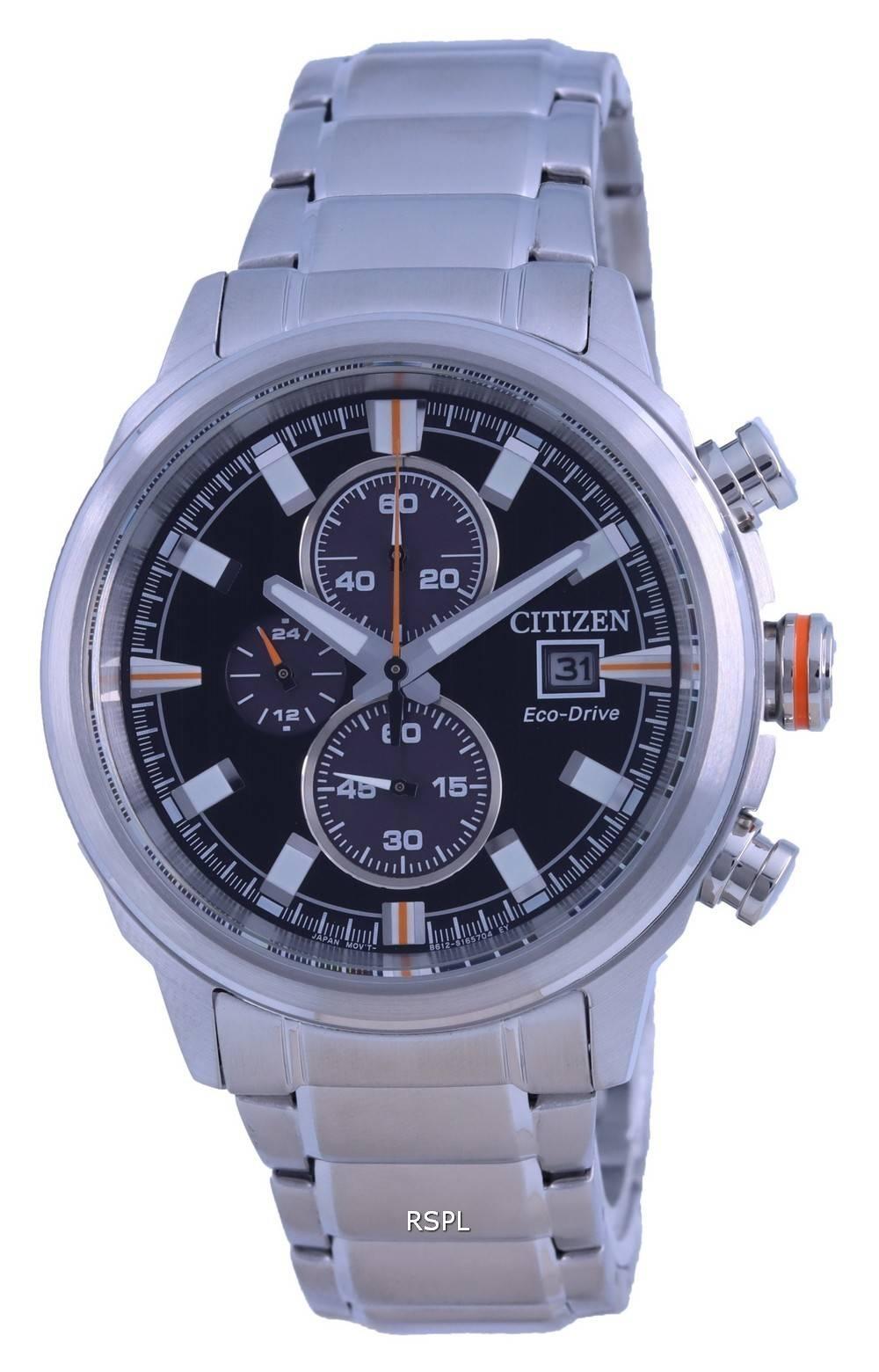 Citizen Chronograph Black Dial Eco-Drive CA0730-85E 100M Mens Watch