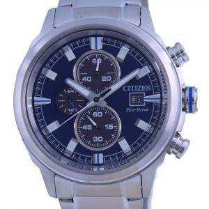 Citizen Brycen Chronograph Blue Dial Stainless Steel Eco-Drive CA0731-82L 100M Mens Watch