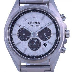Citizen Attesa Chronograph Titanium Grey Dial Eco-Drive CA4390-55A 100M Mens Watch