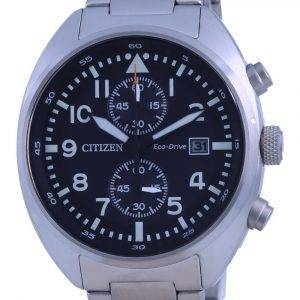 Citizen Chronograph Black Dial Stainless Steel Eco-Drive CA7040-85E 100M Mens Watch
