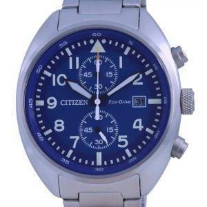Citizen Chronograph Blue Dial Stainless Steel Eco-Drive CA7040-85L 100M Mens Watch