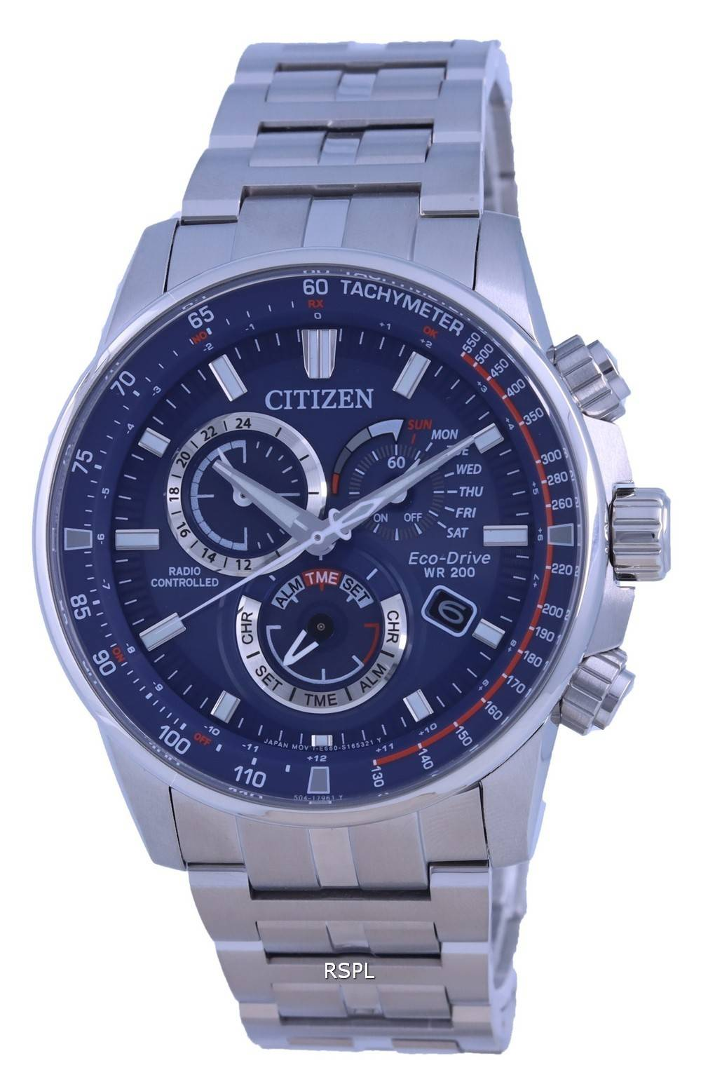 Citizen PCAT Radio Controlled Chronograph Atomic Eco-Drive CB5880-54L 200M Mens Watch