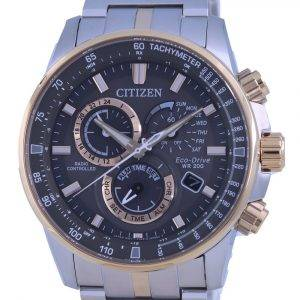 Citizen PCAT Two Tone Radio Controlled Chronograph Atomic Eco-Drive CB5886-58H 200M Mens Watch