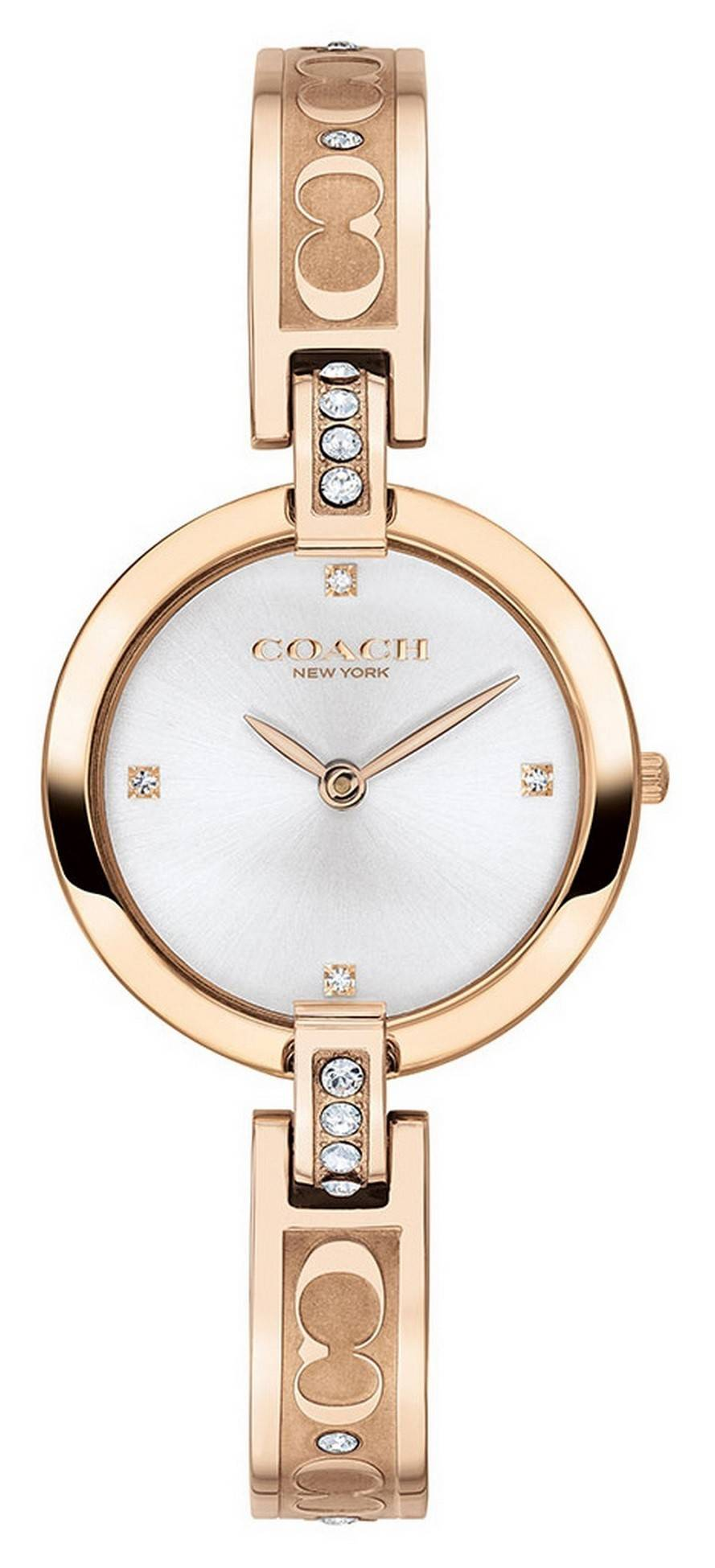 Coach Chrystie Rose Gold Tone Stainless Steel Crystal Accents Quartz 14503317 Womens Watch