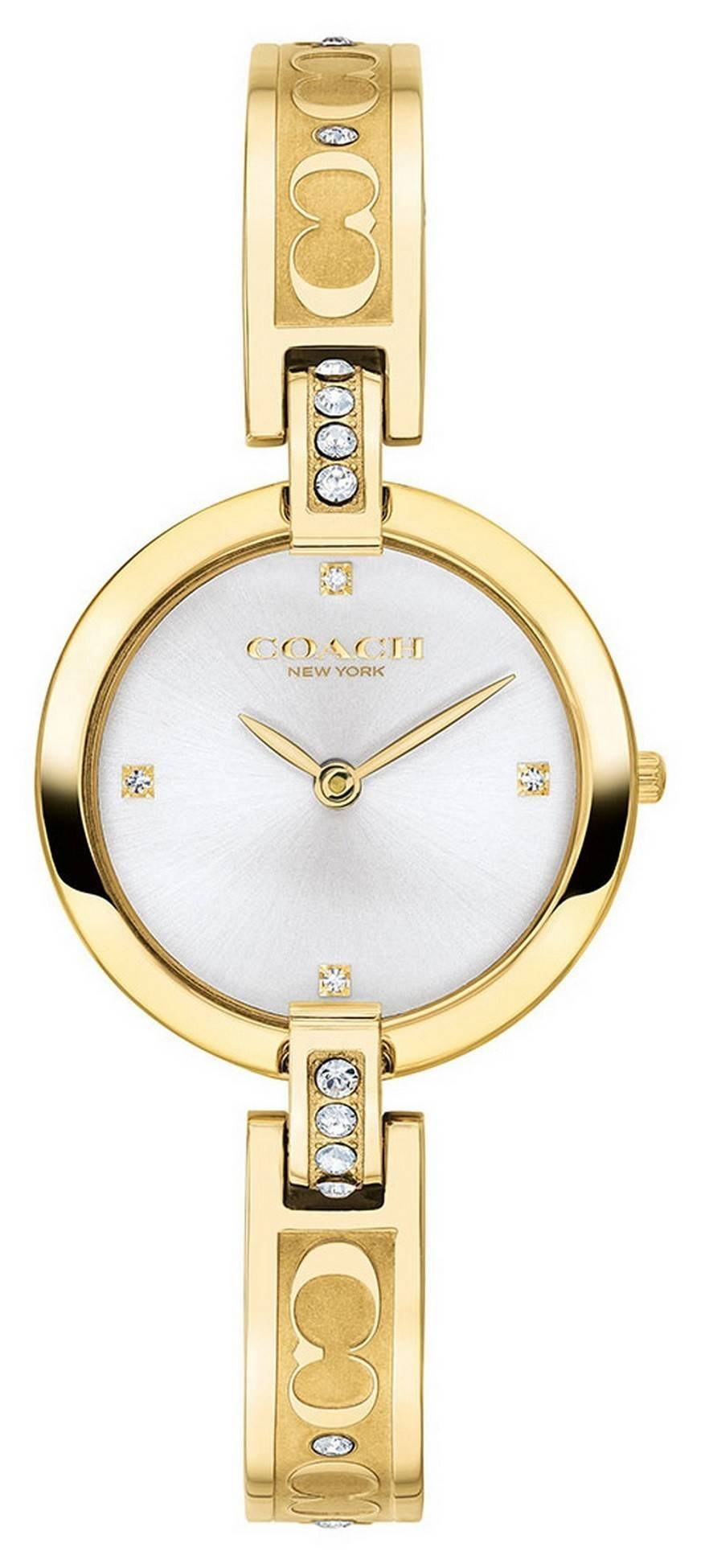 Coach Chrystie Gold Tone Stainless Steel Crystal Accents Quartz 14503318 Womens Watch