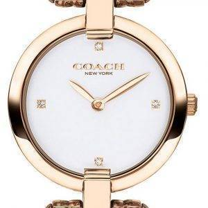 Coach Chrystie White Dial Rose Gold Tone Stainless Steel Quartz 14503321 Womens Watch