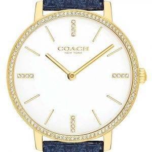 Coach Audrey White Dial Leather Strap Quartz 14503351 Womens Watch