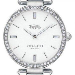 Coach Audrey Crystal Accents Stainless Steel Quartz 14503366 Womens Watch