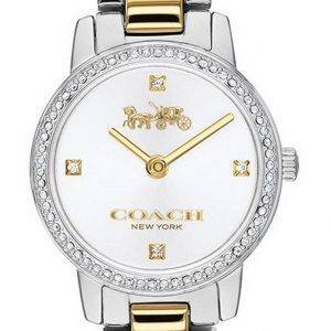 Coach Audrey White Dial Two Tone Stainless Steel Quartz 14503369 Womens Watch