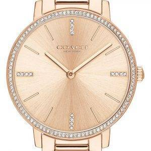 Coach Audrey Crystal Accents Rose Gold Tone Stainless Steel Quartz 14503479 Womens Watch