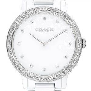 Coach Audrey Crystal Accents Ceramic Quartz 14503499 Womens Watch