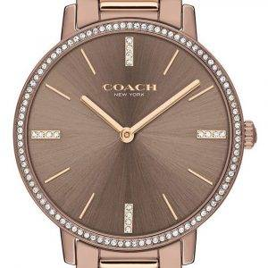 Coach Audrey Crystal Accents Two Tone Stainless Steel Quartz 14503502 Womens Watch