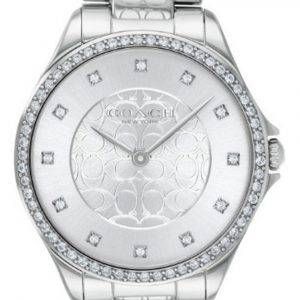 Coach Astor Crystal Accents Stainless Steel Quartz 14503503 Womens Watch