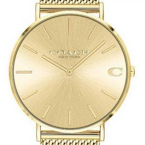 Coach Charles Gold Tone Stainless Steel Quartz 14602428 Mens Watch