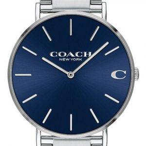 Coach Charles Blue Dial Stainless Steel Quartz 14602429 Mens Watch