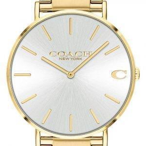 Coach Charles Silver Dial Gold Tone Stainless Steel Quartz 14602430 Mens Watch