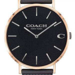 Coach Charles Black Dial Stainless Steel Quartz 14602470 Mens Watch