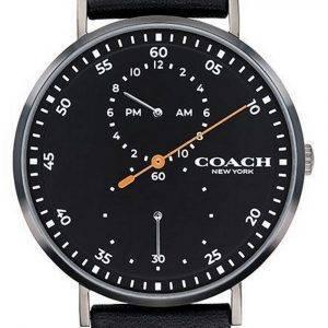 Coach Charles Black Dial Leather Strap Quartz 14602476 Mens Watch