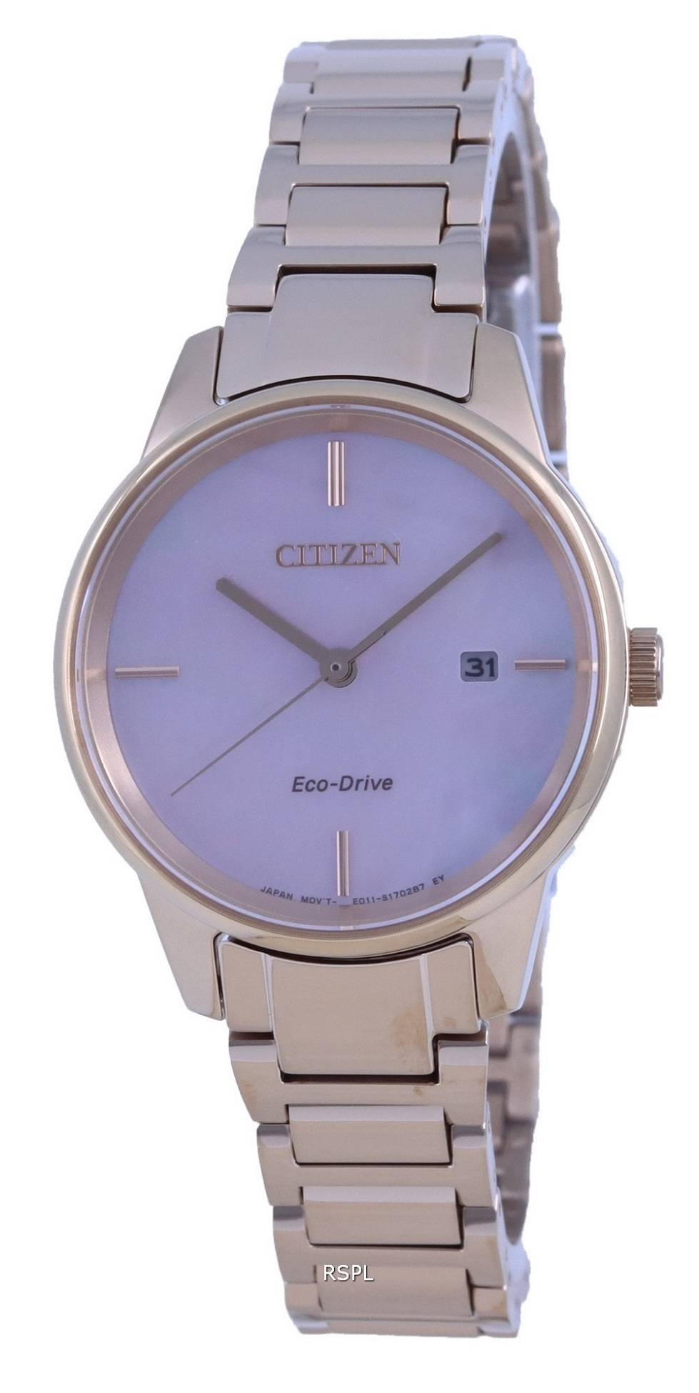 Citizen Classic Contemporary Mother Of Peral Dial Eco-Drive EW2593-87Y Womens Watch