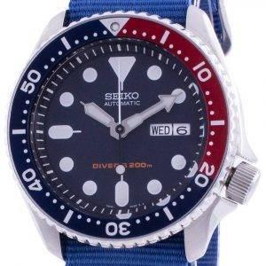Seiko Automatic Divers Deep Blue SKX009K1-var-NATO8 200M Mens Watch