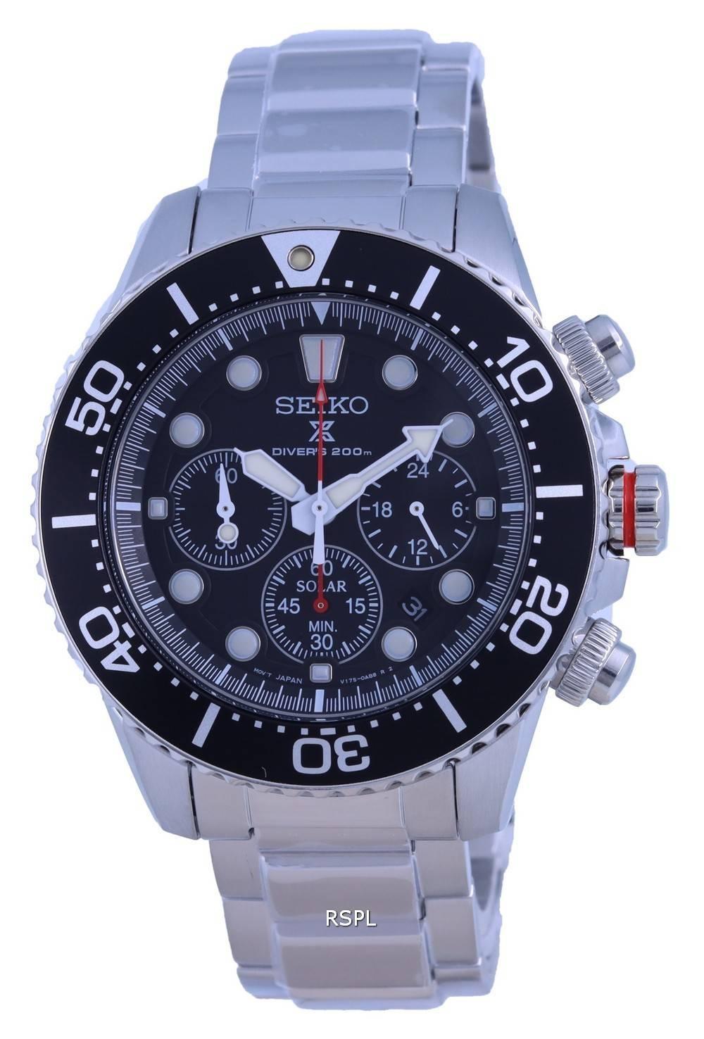 Seiko Prospex Chronograph Solar Divers SSC779 SSC779P1 SSC779P 200M Mens Watch