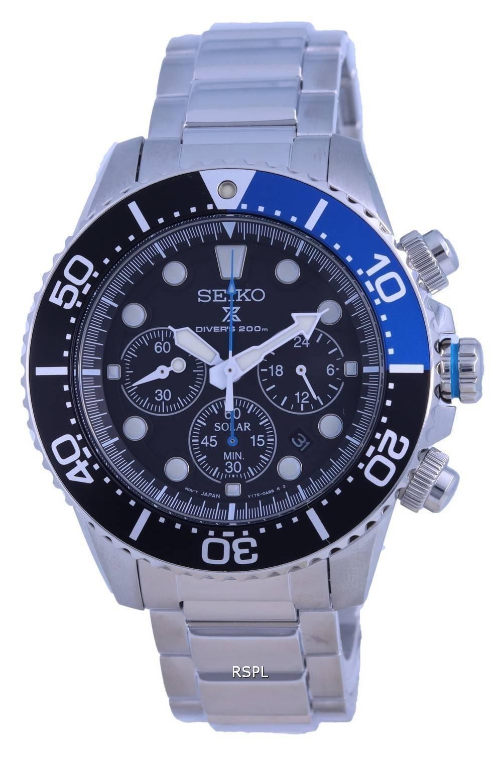 Seiko Prospex Chronograph Solar Divers SSC781 SSC781P1 SSC781P 200M Mens Watch