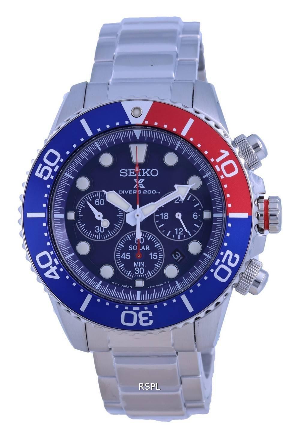 Seiko Prospex Chronograph Solar Divers SSC783 SSC783P1 SSC783P 200M Mens Watch