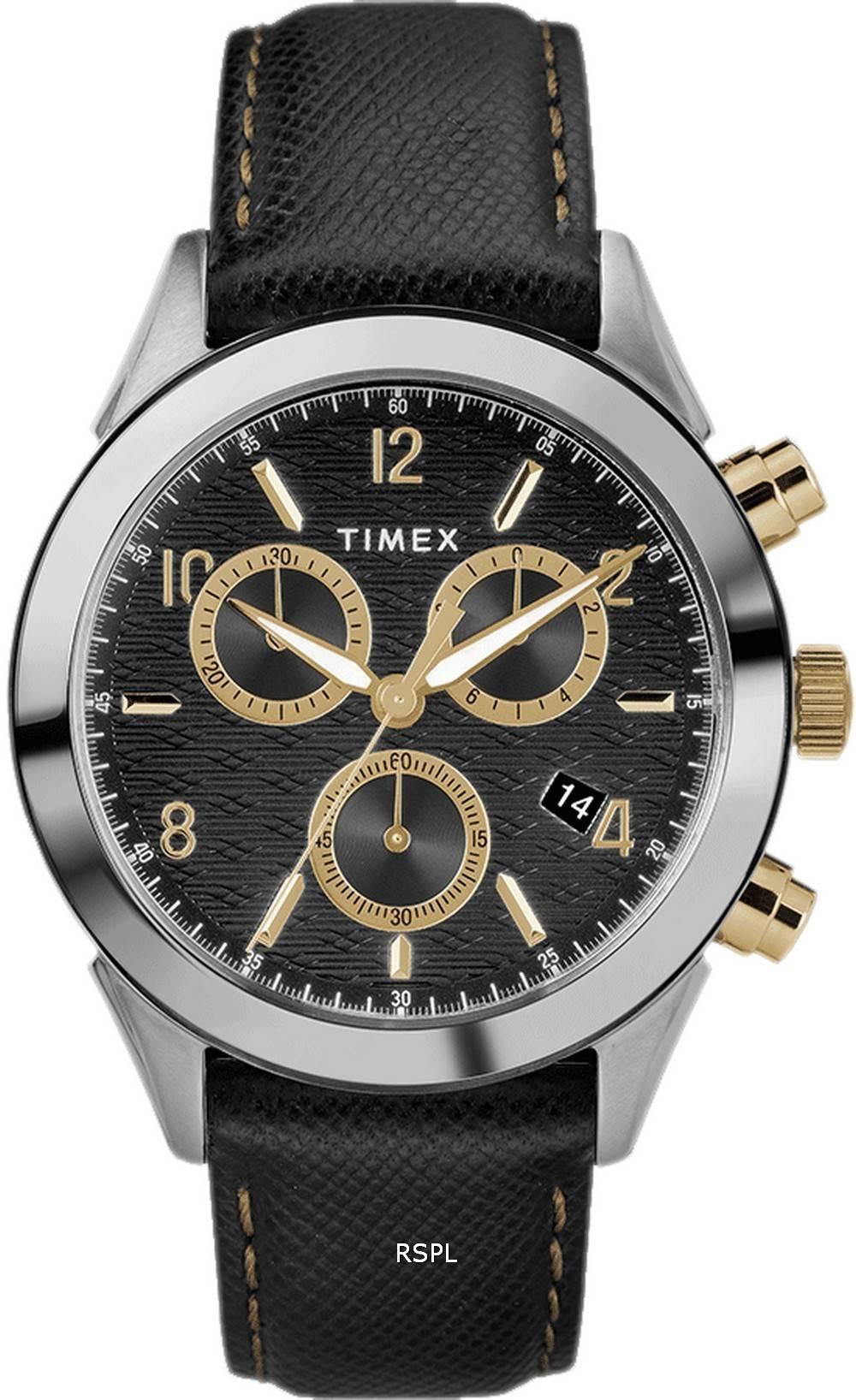 Timex Torrington Chronograph Leather Strap Quartz TW2R90700 Mens Watch