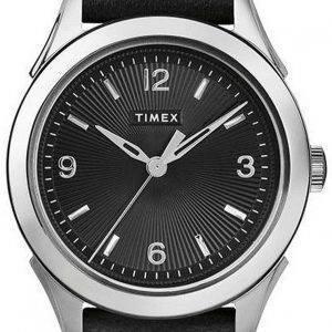 Timex Torrington Black Dial Leather Strap Quartz TW2R91300 Womens Watch