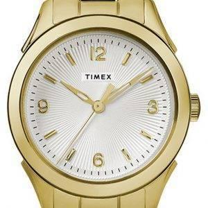 Timex Torrington White Dial Gold Tone Stainless Steel Quartz TW2R91400 Womens Watch
