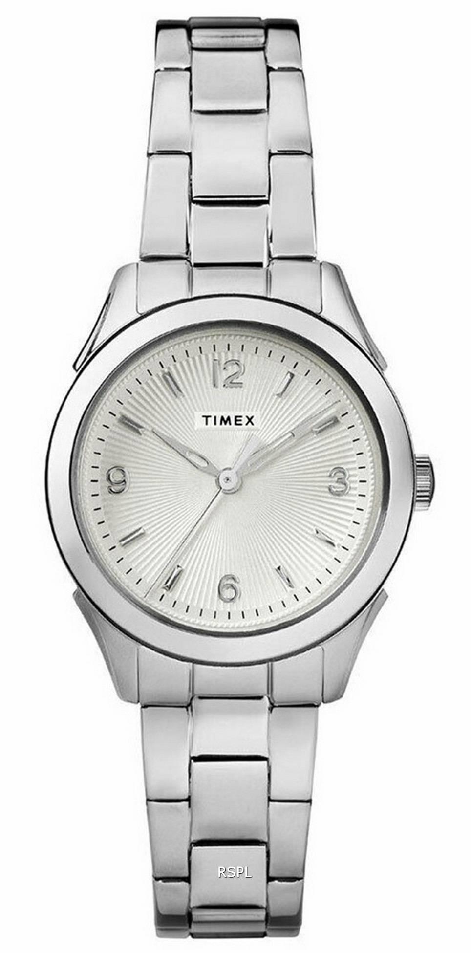 Timex Torrington Silver Dial Stainless Steel Quartz TW2R91500 Womens Watch