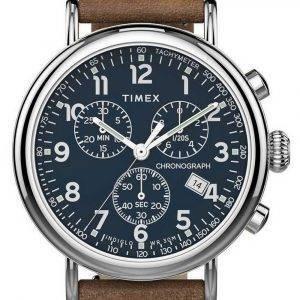 Timex Standard Chronograph Leather Strap Quartz TW2T68900 Mens Watch