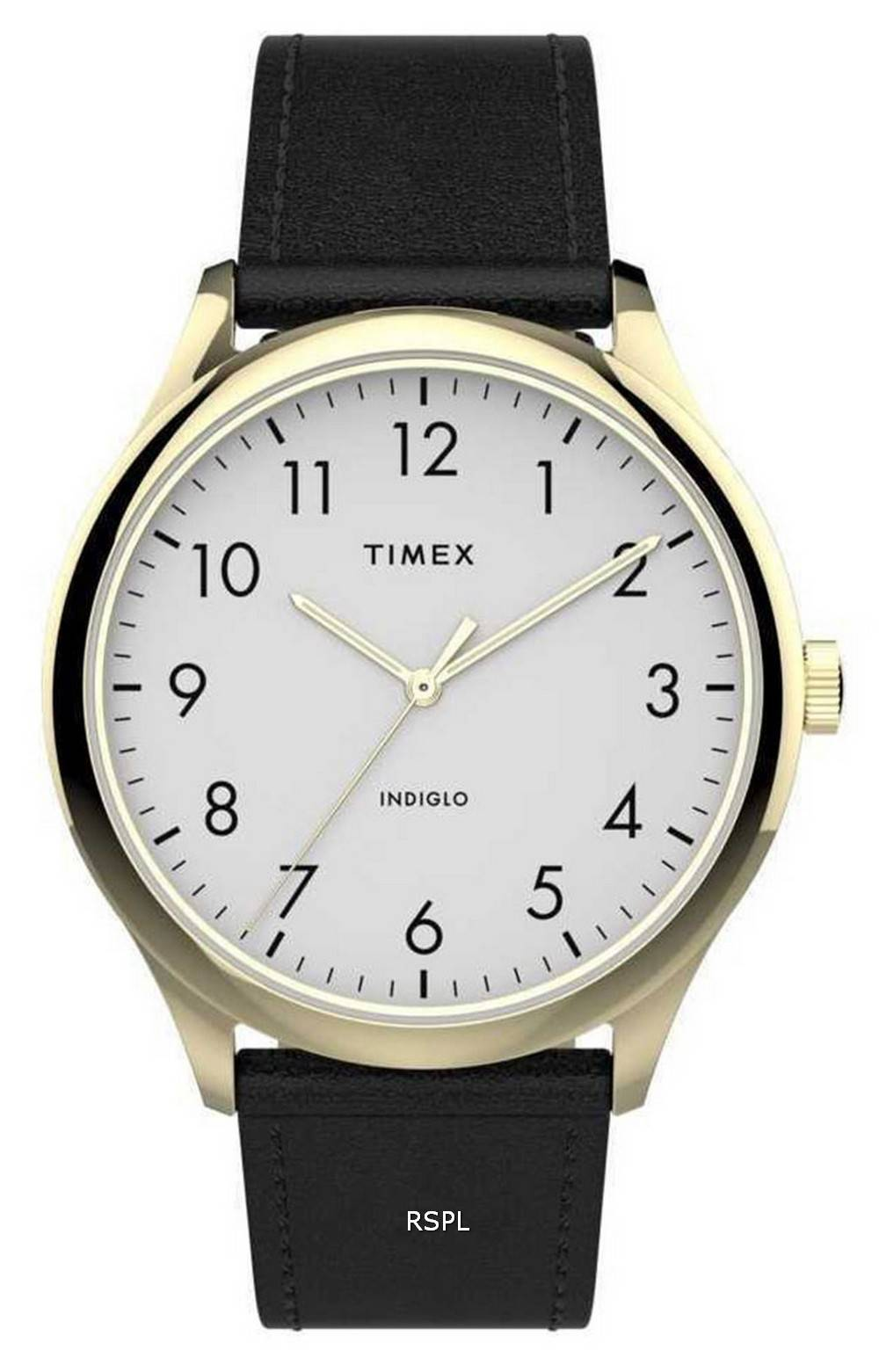 Timex Easy Reader White Dial Quartz Leather Strap TW2T71700 Mens Watch