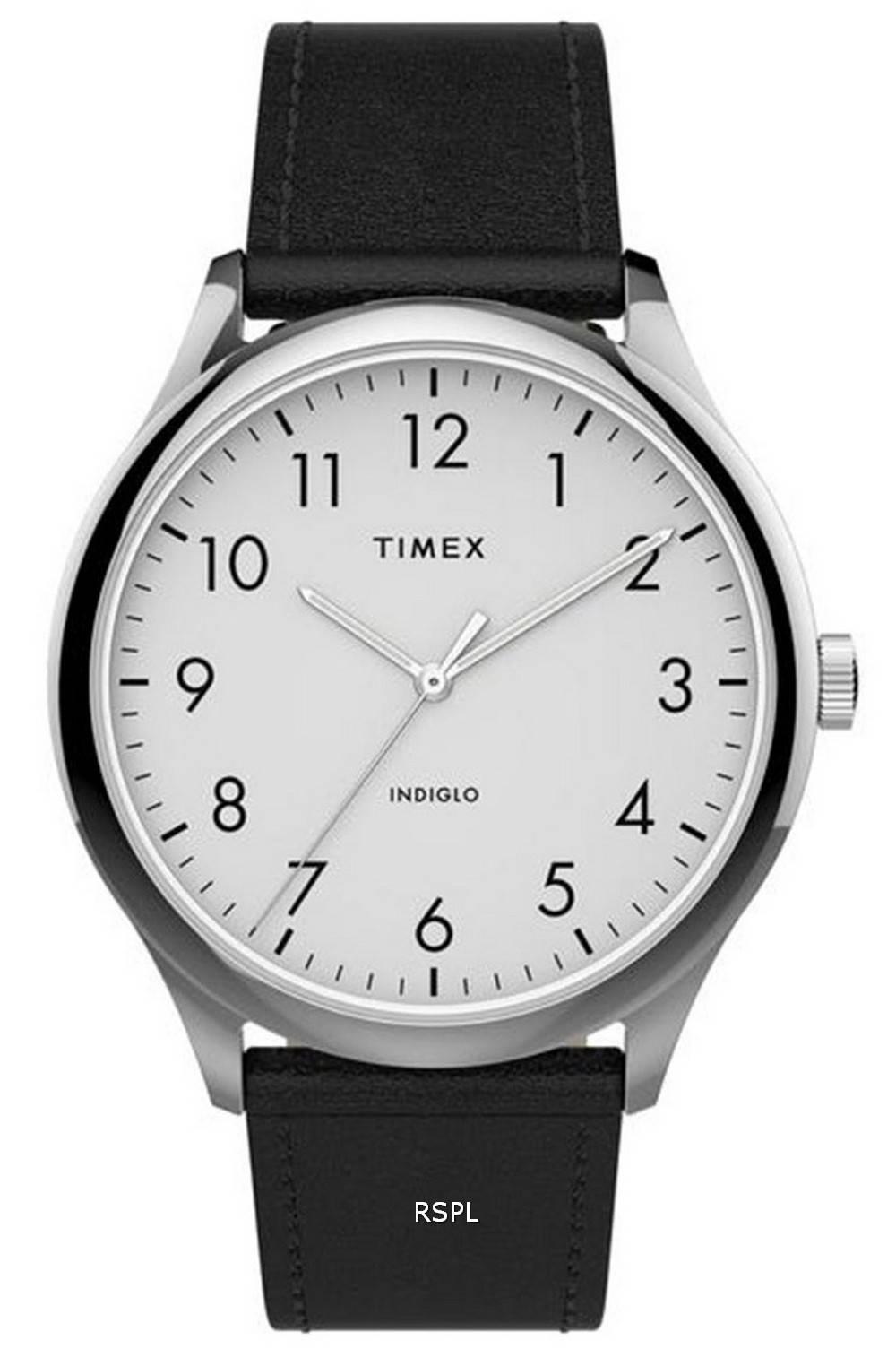 Timex Modern Easy Reader White Dial Quartz TW2T71800 Mens Watch